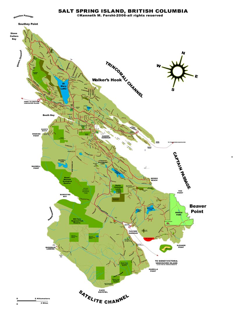 map of salt spring island map of saltspring island british columbia